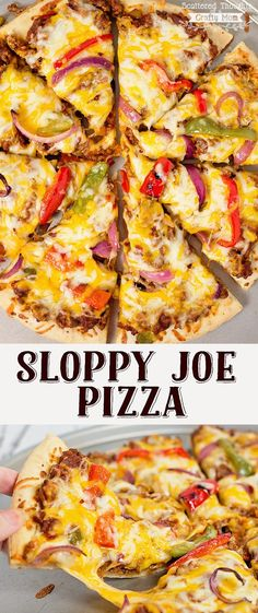 Ready for a new family favorite dinner?  This Sloppy Joe Pizza is Amazing! #ad #ManwichMonday  @manwich