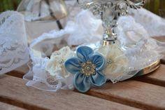 wedding garter blue, Strumpfband, Hochzeit Strumpfband für Hochzeit blau von MY bouquet auf DaWanda.com Ideas Para Fiestas, Wedding Garter, Napkin Rings, Etsy, Jewelry, Decor, Wedding, Garter Belt Wedding, Wedding Bride