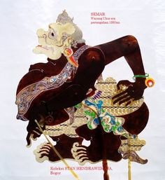 Semar 1- S Hendrawidjaja- WU1980an text2 Indonesian Art, Puppet Making, Indian Crafts, Javanese, Shadow Puppets, 3d Projects, Science And Nature, Ancient Art, Beautiful Landscapes
