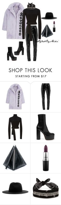 """""""Untitled #397"""" by styledbymiki ❤ liked on Polyvore featuring Hyein Seo, Anthony Vaccarello, Cushnie Et Ochs, Vetements, McQ by Alexander McQueen, MAC Cosmetics, Études and Fallon"""