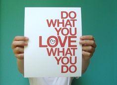 8x10 inspirational art print do what you love red por letterhappy