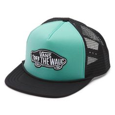 The Classic Patch Trucker Hat is a 100% polyester mesh-back adjustable trucker hat with a Vans Off The Wall logo patch.