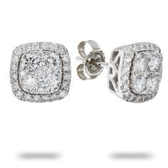 Adriana Orsini Sterling Silver Square Stud Earrings Jewels Way To Woman S Heart Pinterest