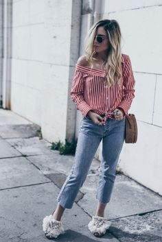 TOP 5 Summer Shirts for women casual blouses, cute outfits, button up, striped Casual Office Fashion, Womens Fashion Casual Summer, Summer Fashion Trends, Summer Fashion Outfits, Casual Summer Outfits, Casual Winter, Winter Style, Cozy Fall Outfits, Cute Outfits