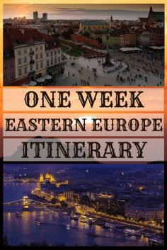 eastern europe travel itinerary for one week
