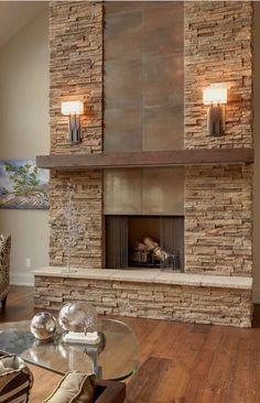 #homedesign #livingroomdecor #inspiration | Contemporary living room in Toronto with a metal fireplace surround. — Houzz