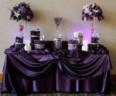 purple wedding candy buffet | Candy by Brandi Purple and Lavender candy buffet for a wedding at the ...
