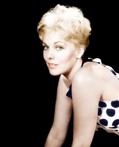 """""""She has the quality of Monroe and Dietrich and that is remarkable because she was a studio-created star."""" - Billy Wilder on Kim Novak"""