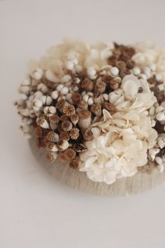 soft textures modern dried flower arrangement by floresdelsol