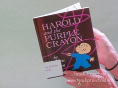 Drawing and story telling with a purple crayon  - Pinned by @PediaStaff – Please Visit  ht.ly/63sNt for all our pediatric therapy pins
