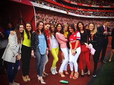 All of the Arsenal WAGs in one picture Left to right: Wilshere, Vermaelen, Fabianski, Rosicky, Cazorla, Arteta, Sagna, Giroud and Koscielny.