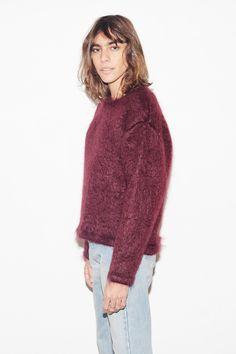 Cherry Wine Mohair Cosy Sweater