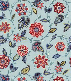 Waverly Home Decor Print Fabric- Lively Trail Heritage-- kitchen valance?