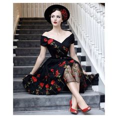 """1,198 Likes, 13 Comments - The Pretty Dress Company (@theprettydress) on Instagram: """"Regram from @iddavanmunster - feeling thrilled that she counts our Fatale Navy Embroidered Dress in…"""""""