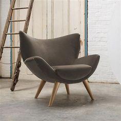Roobarb Bump chair, Designers Guild Varese Clover velvet