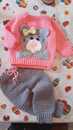 Fotos De Müjgan Yaldız Em örgü   Roupas De Crochê Para Bebê Baby Girl Crochet, Love Crochet, Crochet For Kids, Baby Dress Patterns, Baby Knitting Patterns, Crochet Patterns, Crochet Baby Sweaters, Crochet Baby Clothes, Crochet Tunic Pattern