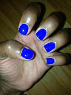 Electric Blue nail polish color.