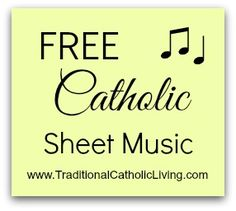 www.TraditionalCatholicLiving.com is a resource I've started to help anyone learn & sing traditional Catholic songs.