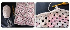 Cómo unir Granny Squares para hacer una manta granny square Manta Crochet, Crochet Patterns, Diy, Blanket, Knitting, Crafts, Crocheted Afghans, Easy Crochet Blanket, Crochet Blankets