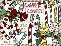 FREEBIE! Candy Canes - Christmas Clip Art
