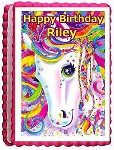 Lisa frank majestic pony edible sheet cake topper