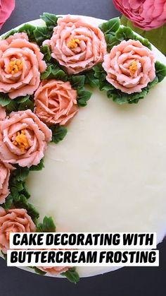 Cake Decorating Frosting, Cake Decorating Videos, Cake Decorating Techniques, Fun Baking Recipes, Sweet Recipes, Dessert Recipes, Cooking Recipes, Cute Desserts, Delicious Desserts