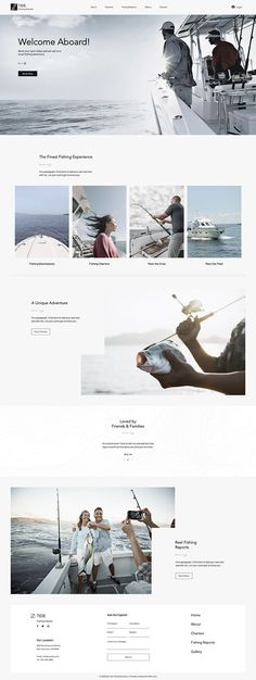 Fishing Charters Website Template | Wix Website Template