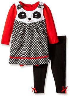 Nannette Baby-Girls Newborn Panda Jumper Set with Creeper and Matching Legging -- To view further, visit now : Baby clothes