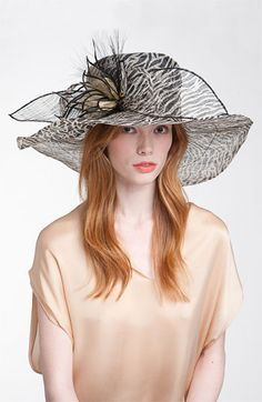 Natasha Couture Zebra Derby Hat available at Nordstrom