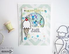 """""""It was a treat"""" shaker card by Handmade by Yuki 