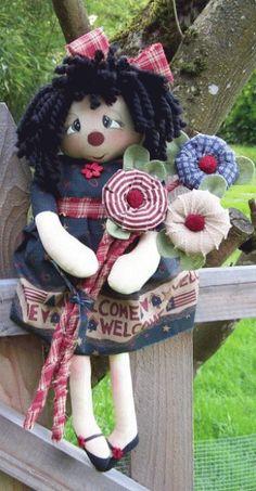 PatternMart.com ::. PatternMart: Abigail Americana Annie doll pattern #238 PM