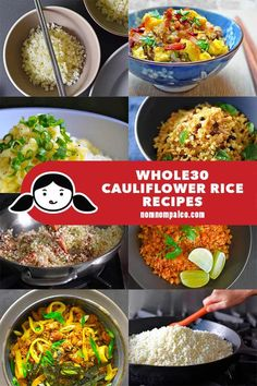 These fast cheap and easy Cauliflower Rice recipes are the perfect vegetable side dish and vegetable-forward one-pan meals! These fast cheap and easy Cauliflower Rice recipes are the perfect vegetable side dish and vegetable-forward one-pan meals! Nom Nom Paleo, Keto, Paleo Diet, Paleo Food, Paleo Menu, Healthy Eating, Dinner Healthy, Rice Recipes, Paleo Recipes