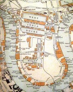 Isle of Dogs 1910 London Map, Old London, East London, London City, London History, Local History, Family History, London Docklands, Isle Of Dogs