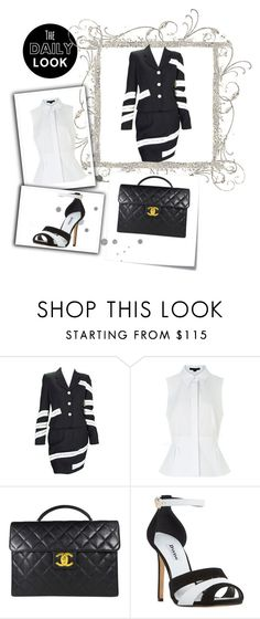 """""""Daily Look - Perfectly preofessional"""" by pink-roosje ❤ liked on Polyvore featuring Moschino, Alexander Wang, Chanel, Dune and Post-It"""
