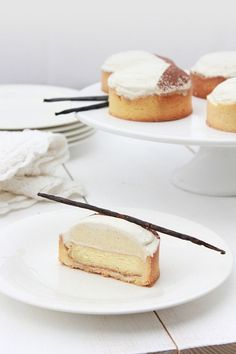 Heavenly French Dessert………Vanilla Tartlets Pierre Hermé! See more french inspiration at thefrenchinspiredroom.com