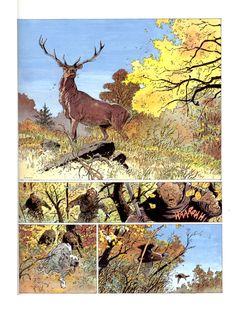 "Belgian comic artist Hermann (Huppen) from the comic ""Las Torres de Bois-Maury"""