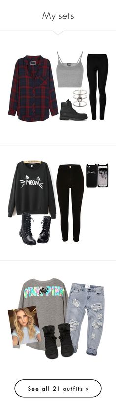 """""""My sets"""" by mariami-princess2013 ❤ liked on Polyvore featuring Rails, Topshop, Wolford, Timberland, Sole Society, River Island, KRISVANASSCHE, Wet Seal, adidas Originals and Converse"""