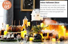 Home Trends  Indoor Halloween Décor: www.teelieturner.com #decor