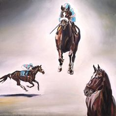 Painting of Zenyatta being auctioned off on eBay to benefit New Vocations Racehorse Adoption.