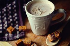 salted caramel and hot chocolate