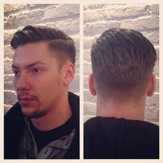"""imonkeyaround: """"Haircut by Adam #barberlife #barberlove #barber #barberfamily #barberswithbeards #barbershop #haircut #menshair #vintage #taper #sidepart #greathair #guyshair #textured #wellgroomed..."""