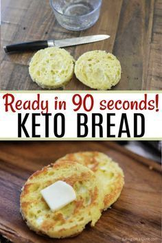 you looking for a quick and easy, keto friendly bread recipe? This 90 second keto bread recipe is made in the microwave with almond flour and is the best low carb bread recipe. Enjoy this bread alone or with one of our other amazing keto recipes! Best Low Carb Bread, Lowest Carb Bread Recipe, No Carb Bread, Keto Mug Bread, Low Carb Bread Substitute, Low Calorie Bread, Desserts Keto, Keto Snacks, Dessert Recipes
