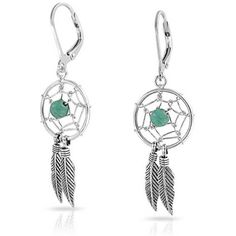 Bling Jewelry Bling Jewelry 925 Silver Dangle Earrings Blue Turquoise... ($24) ❤ liked on Polyvore featuring jewelry, earrings, blue, blue dangle earrings, feather earrings, silver feather earrings, native american turquoise earrings and fake earrings