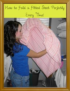 How to Fold a Fitted Sheet Perfectly Every Time!
