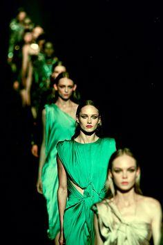 Green Runway Fashion.