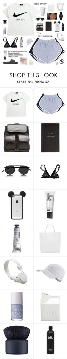 """""""hold up"""" by pure-and-valuable ❤ liked on Polyvore featuring NIKE, Alexander Wang, Smythson, Mykita, Urban Outfitters, Marc by Marc Jacobs, Creatures of Comfort, WeSC, BIA Cordon Bleu and NARS Cosmetics"""