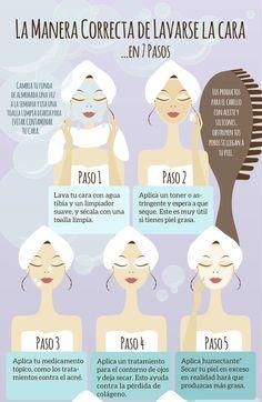 Lavarse la cara de manera incorrecta puede dañar la piel, por eso en esta infografíanos muestranunaguía paso a paso sobre cómo lavarse la cara correctamente