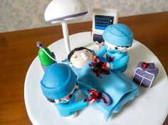 Cakes | Not-so-gory-with-only-a-little-blood Surgeon Cake | Cottontail Cake Studio | Sugar Art & Pastries