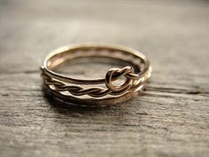 Just saying...They are adorable and I would rock them.  Stacking Rings 14k Gold Fill. $38.00, via Etsy.
