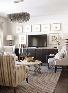 decorating a built-in tv credenza | Sarah Richardson: clean, organized and a TV on a stand!